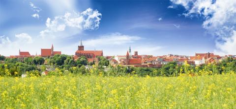 Chełmno, panorama miasta od strony południowej - © fot. Elżbieta Pawelec