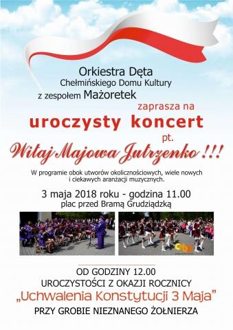 Chełmno - Plakat uroczystości przy Grobie Nieznanego Żołnierza  w rocznicę uchwalenia Konstytucji 3 Maja  oraz uczczenie Święta Flagi