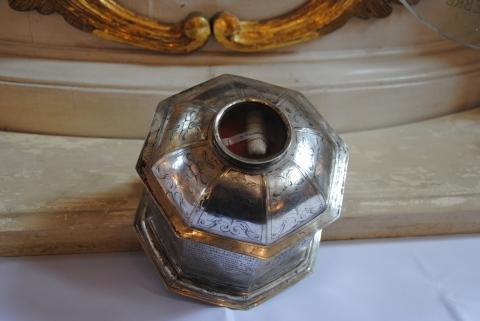 Chełmno, relikwia św. Walentego w kościele farnym pw. Wniebowzięcia NMP, fot. Elżbieta Pawelec