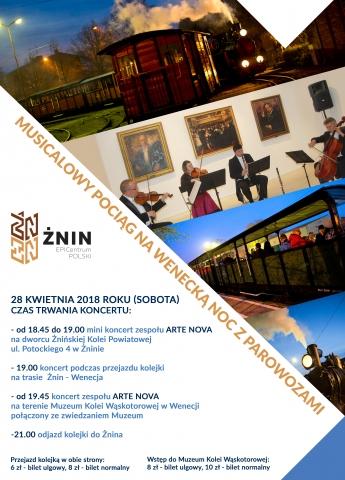 Galeria dla Musicalowy Pociąg na Wenecką Noc z Parowozami