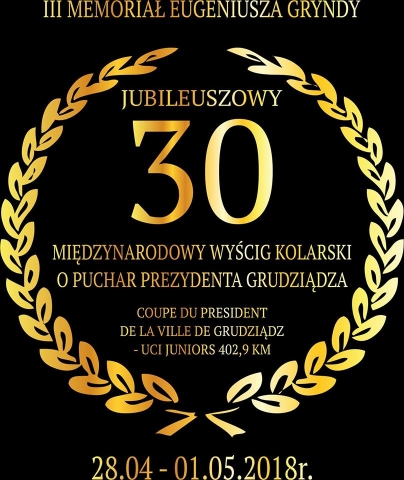 Galeria dla XXX Międzynarodowy Wyścig Kolarski Juniorów UCI o Puchar Prezydenta Grudziądza