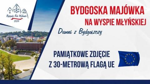Galeria dla Zdjęcie z 30-m flagą UE na Europejskiej Majówce Obywatelskiej