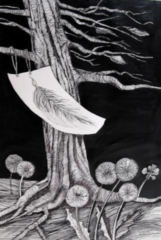 "Klara Stolp ""Z inspiracji i natchnienia"" - rysunki - wystawa, MZCH"